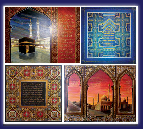 Paintings Images on Islamic Art   Muslim Art   Oil Paintings On Canvas For Sale   Modern